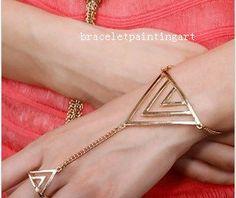 Triangle Bracelet Ring Harness Armor by braceletpaintingart, $4.99