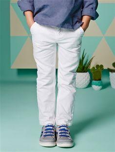 Pantalon en coton et lin garçon