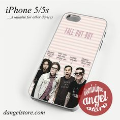 Fall Out Boy Phone case for iPhone 4/4s/5/5c/5s/6/6 plus