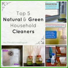 Top 5 Natural Green Household Cleaners - Nature's Nurture