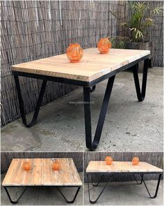 reclaimed wooden pallet table