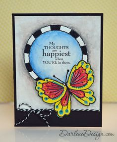 Artist's Butterfly with Faber-Castell Design Memory Craft products.  Video tutorial included!