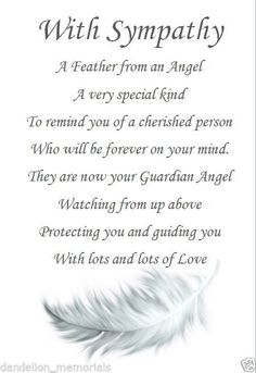 72 best soc sympathy images on pinterest sympathy cards sympathy card with poignant verse and feather keepsake m4hsunfo