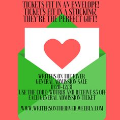 Tickets to Writers on the River 2018 make a great gift!