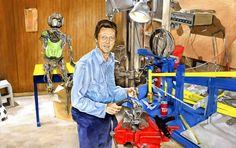 Christopher Walken fixing Transformers, while drinking Tab? Brandon Bird is a geeeeenius.