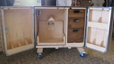 Tack Trunk: sliding saddle rack, drawers