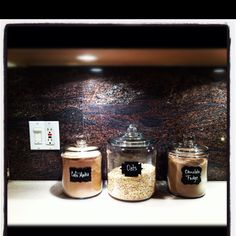 Chalkboard Storage Jars Around the house Pinterest Storage