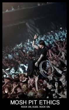 Metal is viewed as the most violent mean genre but then you look at this and this is what metal is about. Love.