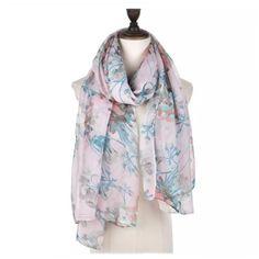 Vintage Flower Floral Long Scarf Pashmina Wrap Sarong Pink Teal Blue Grey SS17  #Intrigue #Scarf
