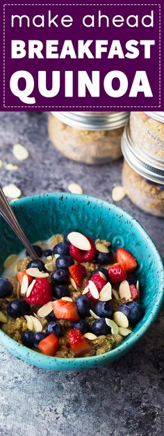 Make this Berry Almond Breakfast Quinoa and you'll have breakfast ready for the week!