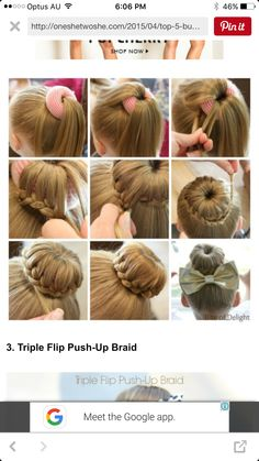 Braided Ballerina Bun Hair Tutorial Little Girl Hairstyles