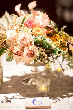 gorgeous #Fall inspired #centerpieces | Photography by karenwise.com, Florals by http://crocushale.com  Read more - http://www.stylemepretty.com/2013/08/19/berkshires-wedding-from-karen-wise-photography/