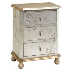 The Celeste Accent Chest with its hand painted design will add conversation and beauty to any room it adorns in your home.