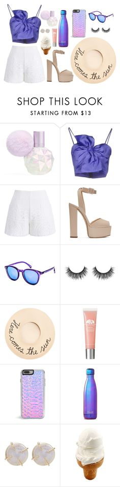 """Here Comes the Sun"" by reine-chanel on Polyvore featuring Leitmotiv, Chicwish, Giuseppe Zanotti, Le Specs, Eugenia Kim, Zero Gravity, S'well and Melissa Joy Manning"