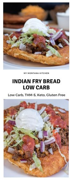 fried low carb dough fried to a golden brown, then topped with all your favorite taco toppings for an Indian fry bread taco!Deep fried low carb dough fried to a golden brown, then topped with all your favorite taco toppings for an Indian fry bread taco! Keto Foods, Ketogenic Recipes, Low Carb Recipes, Diet Recipes, Cooking Recipes, Healthy Recipes, Dessert Recipes, Fat Head Recipes, 0 Carb Foods