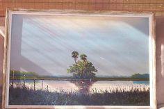 "Florida Highwaymen Painting by Sam Newton ""Vintage"" Oil on Upson Board"