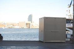 Commercial kiosk / steel / prefab / for public spaces - SOUVENIRS GRECO SHOP - ESTEVA