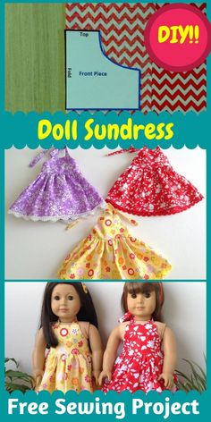 Sewing Doll Clothes, American Doll Clothes, Sewing Dolls, Dress Sewing Tutorials, Sewing Projects, Barbie, Doll Dress Patterns, Sewing Accessories, Diy Doll