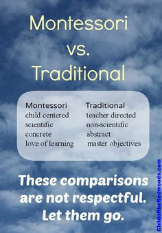 There are some cool little graphics I've seen floating around the web comparing traditional education to Montessori education. I've seen these charts inside teacher manuals and passed out. Montessori Quotes, Montessori Homeschool, Montessori Elementary, Montessori Classroom, All Schools, Teaching Methods, Gentle Parenting, Math Activities, Let It Be