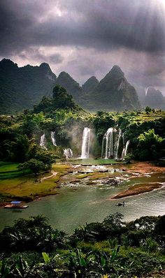 falls in Madidi National Park of Vietnam.