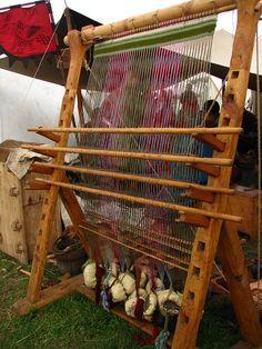 Warp-weighted loom by Tiuku-, via Flickr