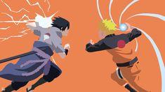 Naruto vs Sasuke minimalistic by diizay on DeviantArt