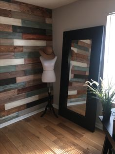 Lularoe Room! Custom wood wall for photographing inventory and to add the perfect touch to my room!