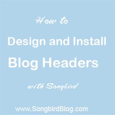 Making a blog header in Blogger