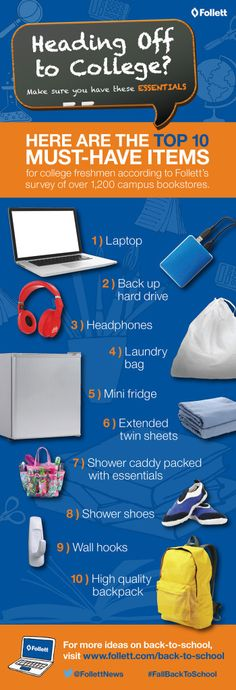 Top 10 Must have Items for College #FallBacktoSchool ad