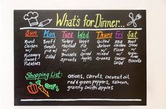 Quick & easy chalkboard DIY - put chalkboard contact paper on a piece of foam board & use Command Strips to hang the lightweight board onto your wall or fridge! Use Wonder Chalk liquid chalk markers to write on and wipe off easily with a damp cloth!
