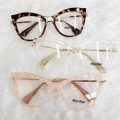 Funky Glasses, Cool Glasses, Miu Miu Eyewear, Miu Miu Glasses, Glasses Trends, Womens Glasses Frames, Lunette Style, Eyewear Trends, Fashion Eye Glasses
