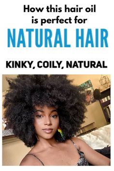 Whether you have 2,3,4 (a,b,c) hair type, this all natural oil is infused with black seeds (you can see the black seeds in each bottle!) it will leave you with thicker, healthier, longer hair. Read more @ olivaproducts.com  #kinkycurlyhair #naturalhair #4chair #4bhair #hairtypes #haircare #4ahair  #dreadlocks #braids #hairoil #hairgrowth #hairgrowthoil #curlyhair #longhair #frizzyhairsolution Dry Frizzy Hair, Kinky Curly Hair, Hair And Beard Styles, Curly Hair Styles, Natural Hair Styles, 4a Hair, Hair Oil, Refined Oil, Longer Hair