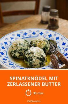 Spinatknödel mit zerlassener Butter - smarter - Zeit: 30 Min.   eatsmarter.de