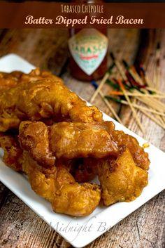 tabasco chipotle fried bacon | bakeatmidnite.com | #bacon #SeasonedGreetings #ad