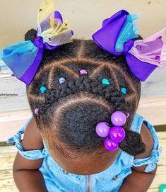 Black Baby Girl Hairstyles, Little Girls Natural Hairstyles, Little Girl Braid Hairstyles, Toddler Braided Hairstyles, Toddler Braids, Childrens Hairstyles, Little Girl Braids, Braids For Kids, Girls Braids