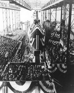 Launching of the USS Nautilus 1954 | ConnecticutHistory.org - The USS Nautilus demonstrates Connecticut's continuing maritime traditions and dedication to our national defense.  In July of 1951, Congress authorized the construction of the world's first nuclear powered submarine.  - Read more at: http://connecticuthistory.org/launching-of-the-uss-nautilus-1954/