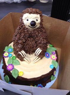 Super chocolate cake birthday kids how to make Ideas Cupcakes, Cupcake Cakes, Sloth Cakes, Animal Cakes, Fondant, Homemade Cake Recipes, Cake Board, Pretty Cakes, Creative Cakes