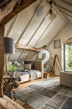 A Barn-Style Holiday Cottage Oozing With Rustic Charm - Dear Designer Interior Exterior, Home Interior, Interior Design, Barn Conversion Interiors, Barn Conversion Bedroom, Design Apartment, Apartment Plans, Upstairs Loft, Interior Minimalista