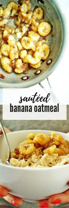 Sauted Banana Oatmeal is as decadent as it sounds - and a filling breakfast packed with fiber and healthy fats. #healthybreakfast #breakfast #oats