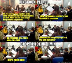 Jungkook always rejecting Jimin lol Meme Center | allkpop
