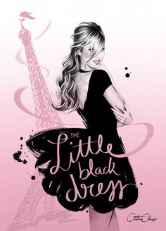 'The Little Black Dress' by fashion illustrator Cristina Alonso (www.cristinalonso.com