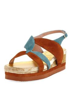 28064782e3 DRIES VAN NOTEN FLATFORM WEDGE PLATFORM SANDAL.  driesvannoten  shoes