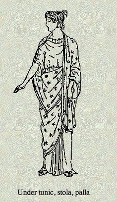 Roman women clothing