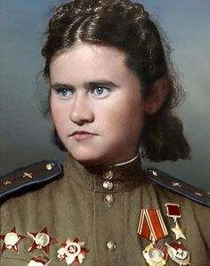 "Evdokia Pasko - a legendary woman-aviator from the 46th Guards Night Bomber Aviation Regiment (""Night Witches"")."