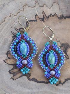 Macrame INCA Earrings by KarmaArtisanJewelry on Etsy