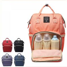 Cheap bag for baby, Buy Quality designer nappy bag directly from China fashion nappy bag Suppliers: Fashion Mummy Maternity Nappy Bag Brand Large Capacity Baby Bag Travel Backpack Designer Nursing Diaper Bag for Baby Care Large Diaper Bags, Baby Diaper Bags, Nappy Bags, Travel Handbags, Travel Bags, Travel Backpack, Baby Travel, Travel Nursing, Nursing Care