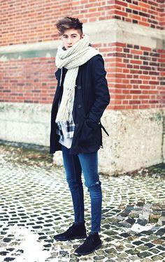 Cos Trenchcoat, Zara Scarf, Cheap Monday Shirt, Cheap Monday Jeans, H&M Desert Boots