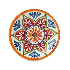 Mirasol Hand Painted Cream Round Dinner Plate