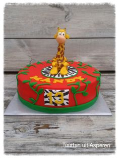 Olaf giraf op de taart
