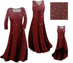 Red ZigZag Slinky Glittery dress - available in pants, shirts, skirts and jackets too! http://sanctuarie.com/neblwzigzagg.html